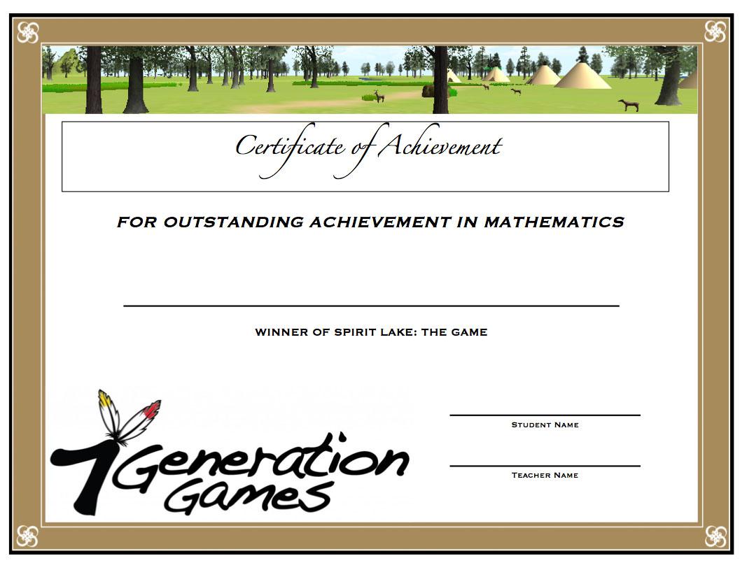 Spirit Lake Math Award 2014