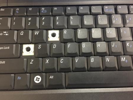 computer missing keys