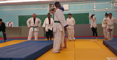 Jose at judo with Ronda teaching