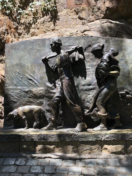 statue in park in Santiago