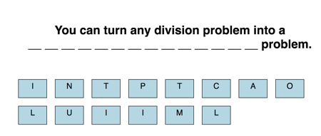 Dragging letters to answer problem