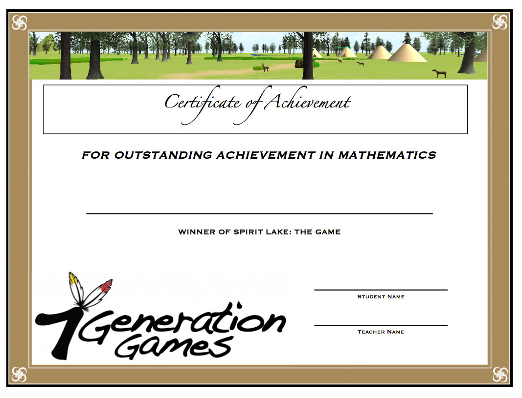 Spirit Lake Math Award 2014