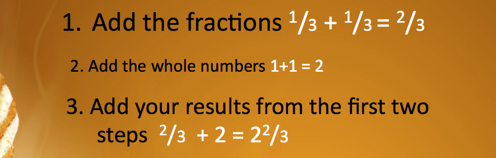 An example of adding fractions from Teachers Pay Teachers site