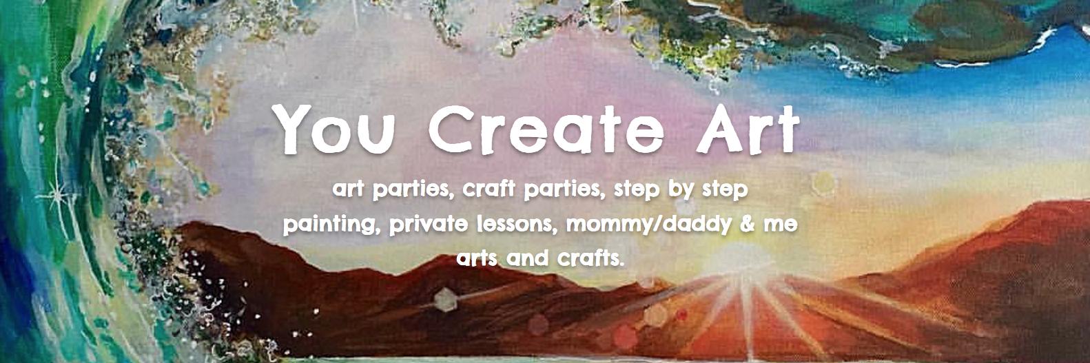 you create art