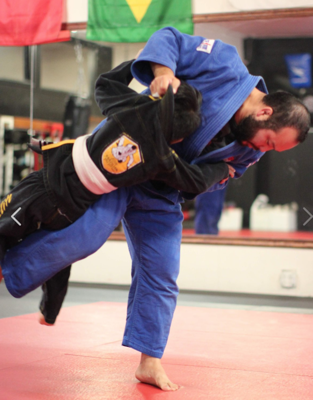 Jason Harai teaches judo