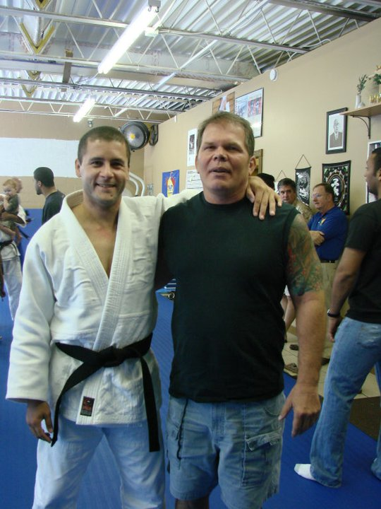 Dave Roman and a judo friend