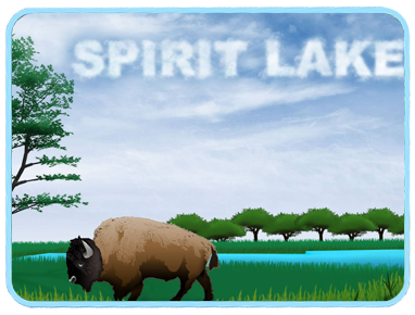 Buffalo in a field