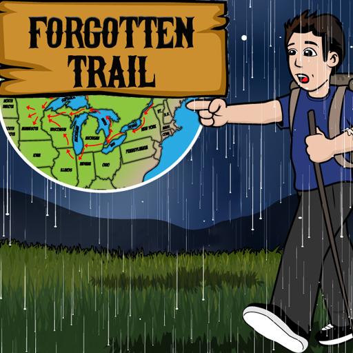 Sam hikes the Forgotten Trail in the rain